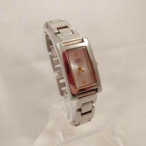 Anne Klein Silver Watch 7568 Wristwatch White Gold